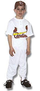 Uniform with 2-button white jersey - $26.95